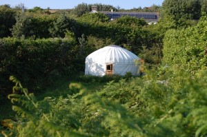 scilly isles yurt showing window