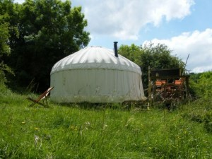 Oakridge Yurt in its own secluded glade at Cotswold Yurts: available for holiday hire