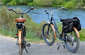 Electric Bikes down by the river