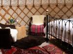 Sheepskins, silk quilts, Persian rugs...